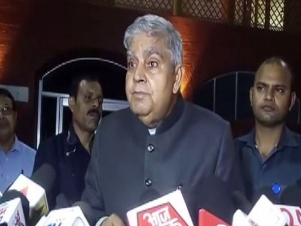 West Bengal Governor Jagdeep Dhankhar speaking to media in Burdwan, West Bengal on Friday. (Photo/ANI)