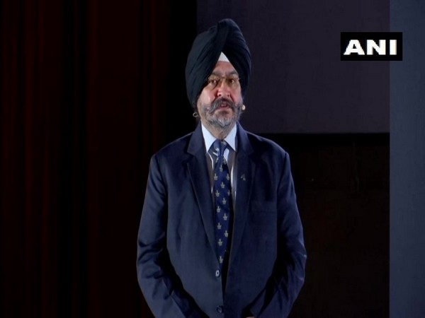 Former Air Force chief BS Dhanoa speaking at an event in Mumbai on Saturday. Photo/ANI