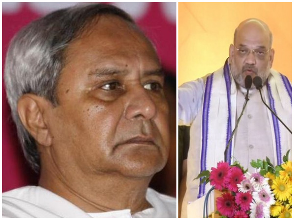 Chief Minister Naveen Patnaik and BJP president Amit Shah