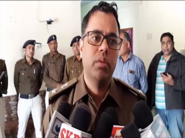 Dhar SP Aditya Pratap Singh speaking to reporters in Dhar on Monday. Photo/ANI