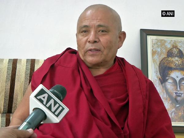 Deputy Speaker of Tibetan Parliament-in-Exile Acharaya Yeshi Phungstok speaking to ANI in Dharamshala on Friday (Photo/ANI)