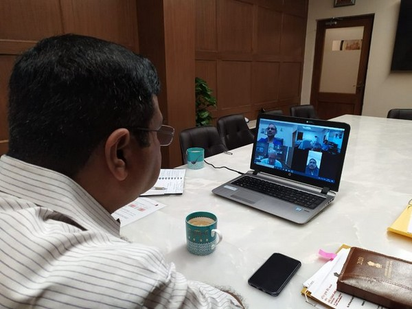 Union Minister Dharmendra Pradhan reviews status of supplies of petroleum products, steel plants via video conference (Source - Twitter)