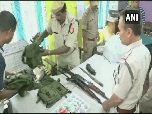 The weapons recovered from the arrests in Dibrugarh, Photo/ANI