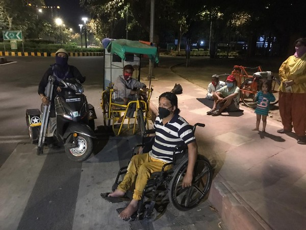 Due to lockdown, differently-abled persons face difficulties regarding daily needs. Photo/ANI