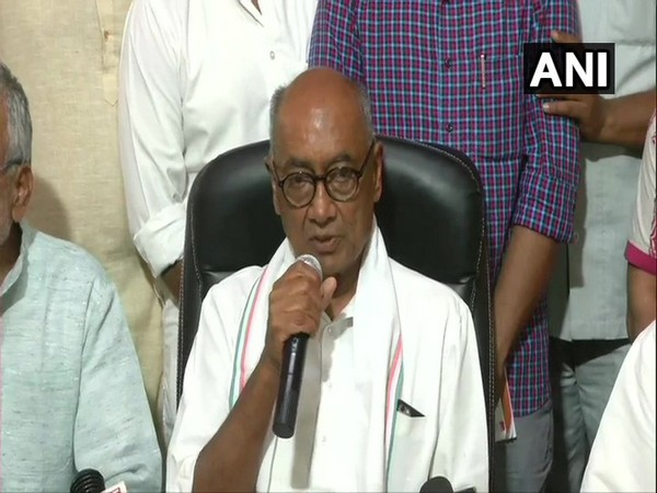 Senior Congress leader Digvijaya Singh who lost to BJP's Pragya Singh Thakur from Bhopal LS constituency addressing media on Friday.