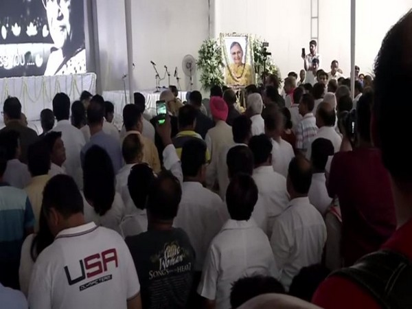 Visuals from the tribute meeting in New Delhi.