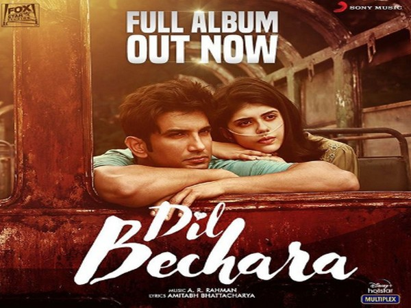 Poster of the film 'Dil Bechara' featuring late Bollywood actor Sushant Singh Rajput and actor Sanjana Sanghi (Image Source: Instagram)