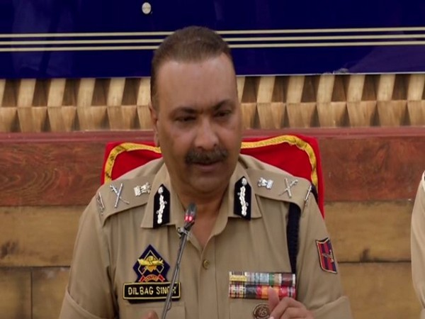 Jammu Kashmir DGP Dilbag Singh addressing a press conference in Srinagar on Wednesday. Photo/ANI