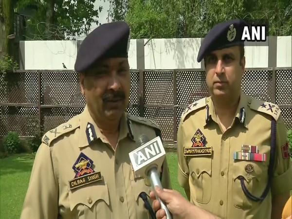 J-K Director General of Police Dilbag Singh (File photo/ANI)