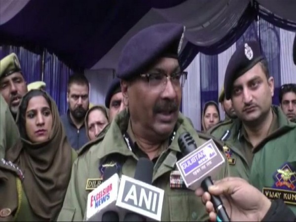 Jammu and Kashmir DGP Dilbagh Singh speaking to reporters in Baramulla on Friday. Photo/ANI