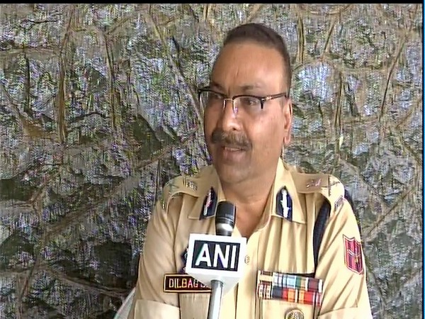 Jammu and Kashmir DGP Dilbagh Singh speaking to ANI in Srinagar on Tuesday. Photo/ANI