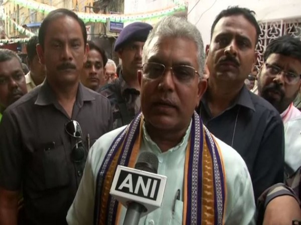 BJP leader Dilip Ghosh in talking to ANI on Wednesday. Photo/ANI