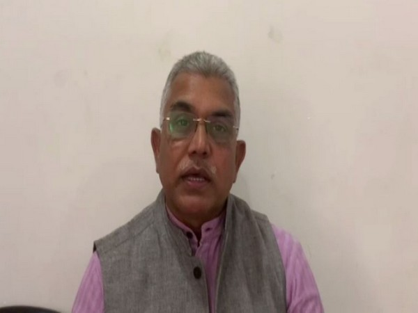 West Bengal BJP chief Dilip Ghosh speaking to ANI in New Delhi on Wednesday.