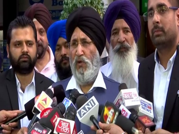 Senior Vice President of SAD Daljit Singh Cheemab while speaking to media persons in Punjab on Saturday. Photo/ANI