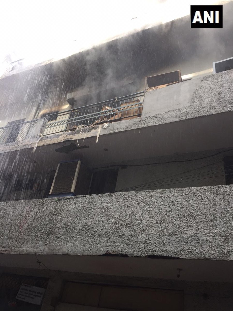 Fire breaks out at a paper factory in Dilshad Garden area on Saturday