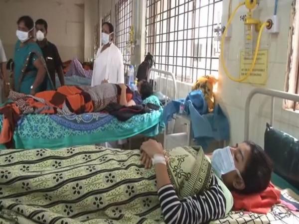 Students in isolation ward at GIMS in Kalaburagi on Sunday. Photo/ANI