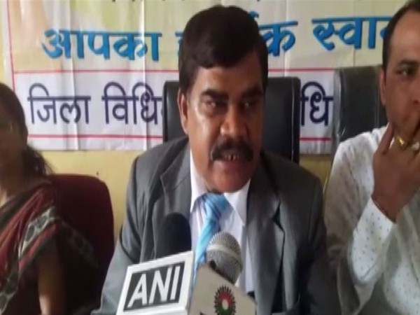 District Judge Rajender Pradhan speaking to reporters in Dantewada on Wednesday. Photo/ANI
