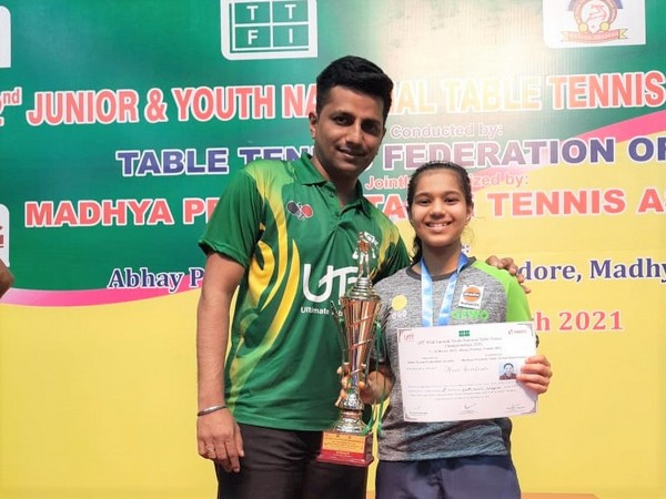 Diya Chitale after winning the title.