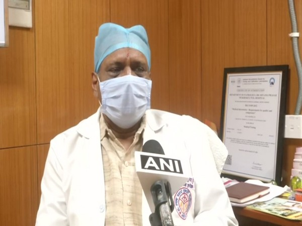 Dr Ashotosh, medical superintendent of Civil hospital speaking to ANI in Lucknow on Wednesday. (Photo/ANI)