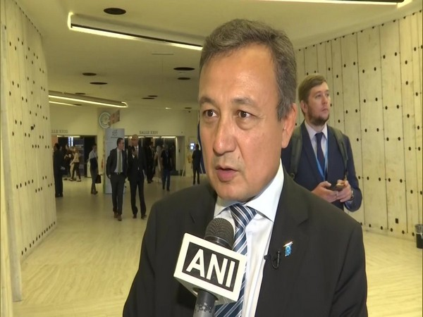 World Uyghur Congress president Dolkun Isa speaking to ANI in Geneva on Monday.