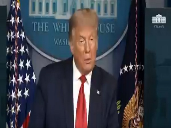 US President Donald Trump speaking at a press conference at The White House on Thursday (local time).