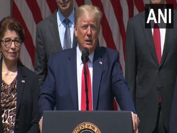 US President Donald Trump speaking at a press conference on Friday. Photo/ANI