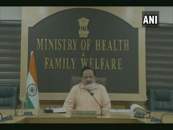 Union Health Minister Dr Harsh Vardhan speaking on Sunday