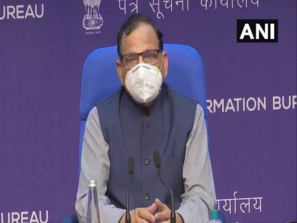 Dr VK Paul, Member-Health, Niti Aayog addressing a press conference on Friday.
