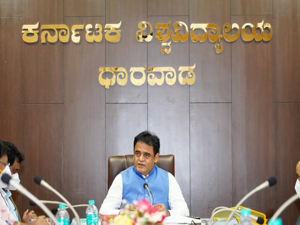 Visual of meeting chaired by Karnataka Deputy Chief Minister Dr CN Ashwath Narayan (Photo/ANI)