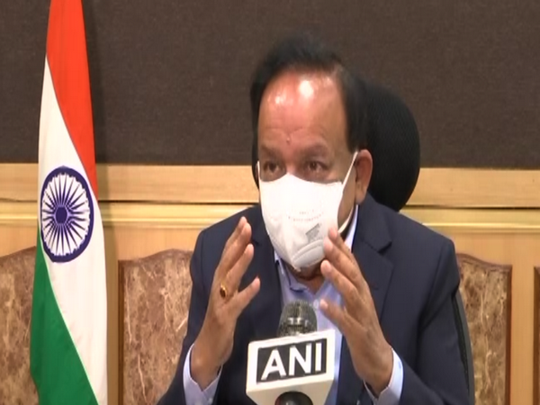 Union Health Minister Dr Harsh Vardhan speaking to ANI in New Delhi on Sunday. [Photo/ANI]