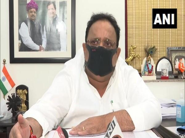 Rajasthan Health Minister Dr Raghu Sharma speaking to ANI on Thursday. (Photo/ANI)