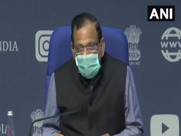 Dr VK Paul, Chairman of Empowered Group 1, speaking during a press conference in New Delhi on Friday. Photo/ANI