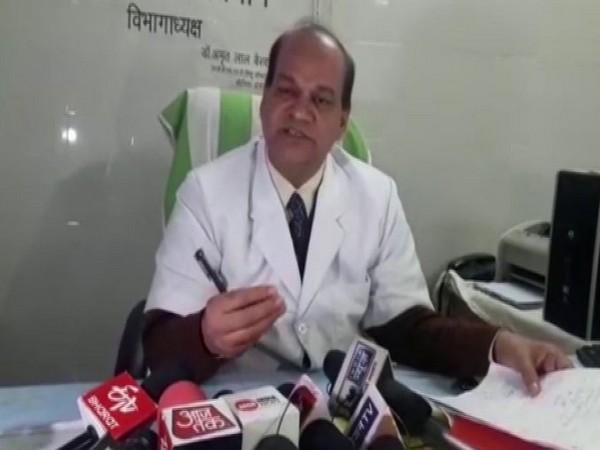 Dr. Amrit Lal Bairwa, HoD, Pediatric Department. Photo/ANI