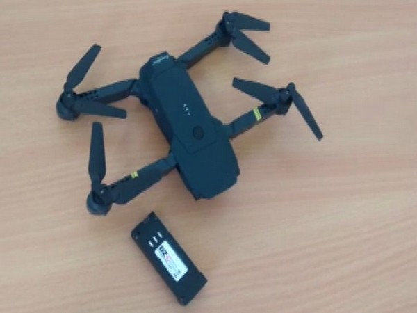 Visual of the drone seized by Kishtwar police on Tuesday. photo/ANI