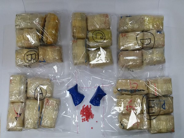 Drug seized by West Bengal Police on Sunday. (Photo/ANI)