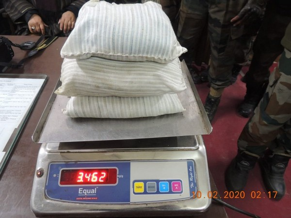 Contraband recovered in joint operation of Army and Jammu and Kashmir Police. Photo/ANI