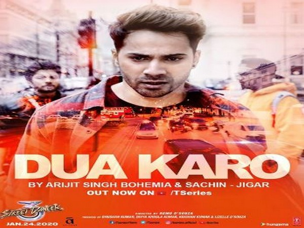 Poster of the song featuring Varun Dhawan