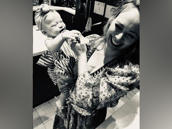 Hilary Duff with daughter Bank, Picture Courtesy: Instagram
