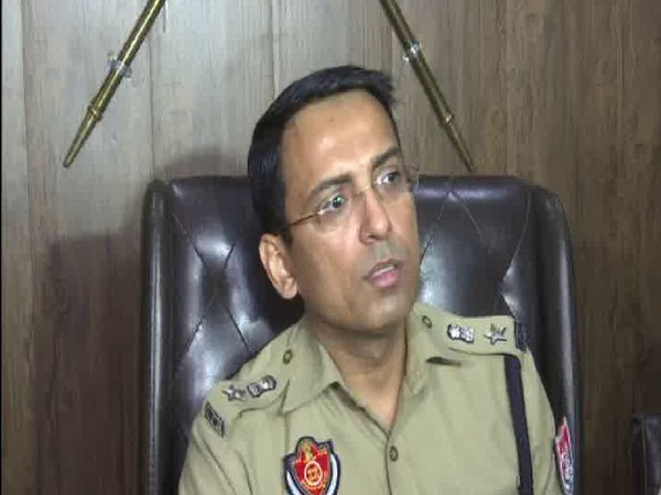 Senior Superintendent of Police (Rural) Vikram Jeet Duggal speaking at a press conference in Amritsar on Monday. Photo/ANI