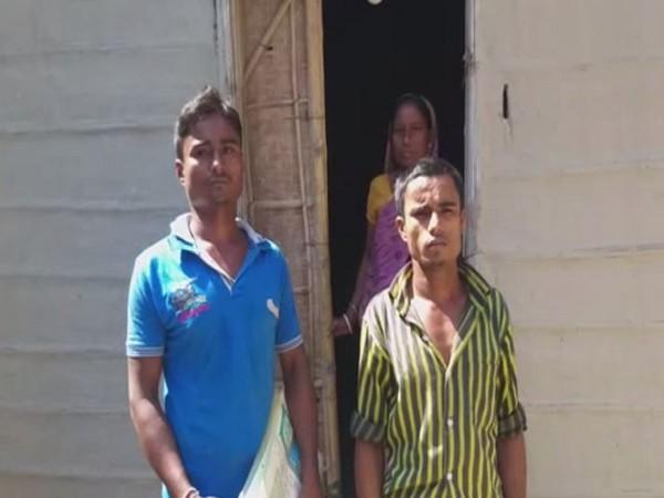 Family of Dulal Pal in Guwahati on Tuesday. Photo/ANI