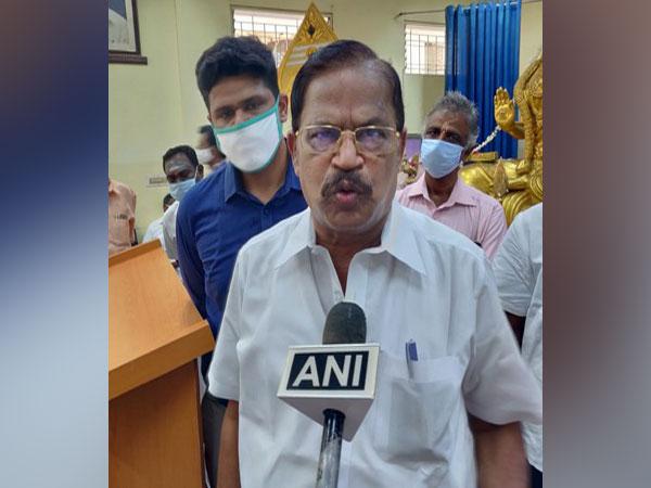 Tamil Nadu BJP vice-president VP Duraisamy talking to ANI on Wednesday. Photo/ANI