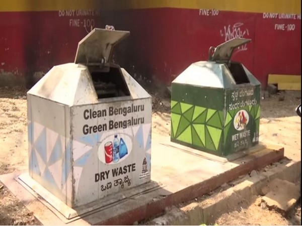 BBMP placed german dustbin in Bengaluru. Photo/ANI