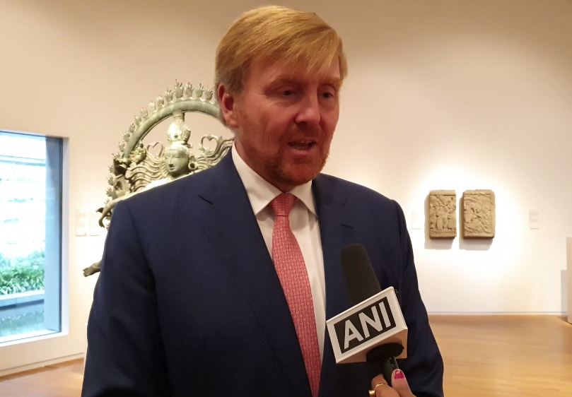 Dutch King Willem-Alexander speaking to ANI in Amsterdam on Monday. (Photo/ANI)