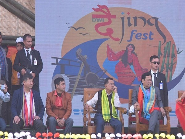 Chief Minister of Assam, Sarbananda Sonowal, gracing the 4th edition of the Dwijing Festival 2019-20 at Chirang District, Assam