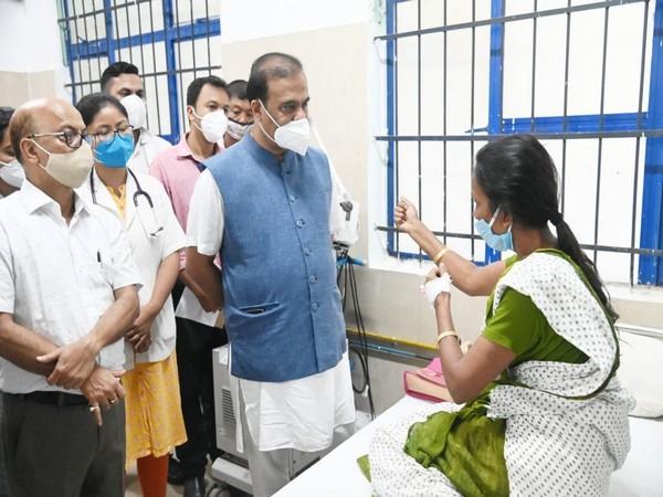 Assam CM Himanta Biswa Sarma met the passengers injured in the Jorhat boat accident today. (Photo/@himantabiswa)
