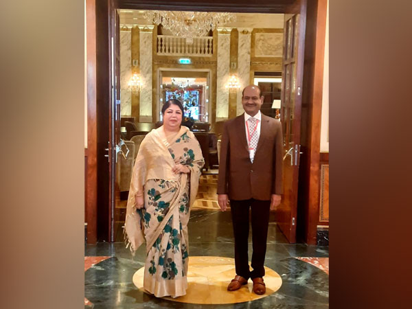 Lok Sabha Speaker Om Birla (R) and Bangladesh's Speaker of Jatiyo Shangsad, Shirin Sharmin Chaudhury in Vienna. Photo Courtesy: Twitter/LokSabhaSpeaker