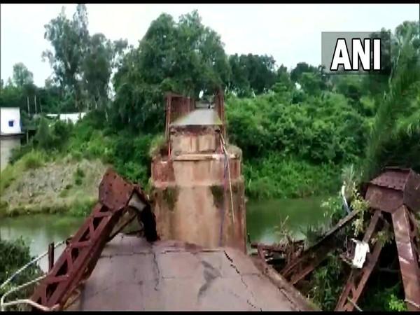 Visual of the iron bridge near Kuchinda (Photo/ANI)