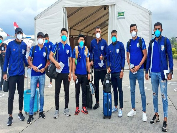 Blue Tigers touch down in Nepal (Photo/ Indian Football Team Twitter)