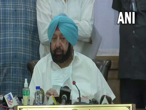 Punjab Chief Minister Captain Amarinder Singh speaking to reporters in Chandigarh on Tuesday. [Photo/ANI]