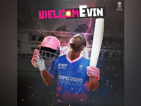 Rajasthan Royals sign Evin Lewis (Photo/ Rajasthan Royals Twitter)